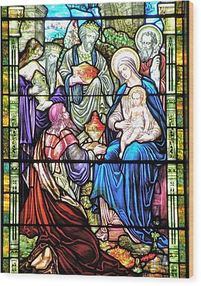 Three Wise Men - Visitation Of The Magi Wood Print