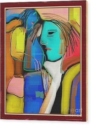 Three Women Conversing Wood Print by Nedunseralathan R