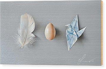 Three Wonders Wood Print by Elena Kolotusha
