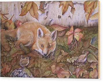 Three's A Crowd Wood Print by Patricia Pushaw