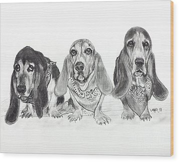 Three's Company Wood Print by Michelle Wolff