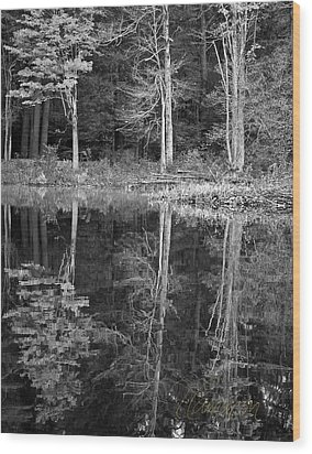 Wood Print featuring the photograph Threes by Tom Cameron