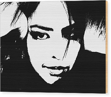 Wood Print featuring the photograph Threshold Self Portrait by Zinvolle Art