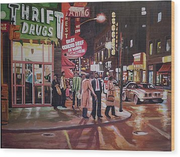 Thrift Drugs Wood Print by James Guentner