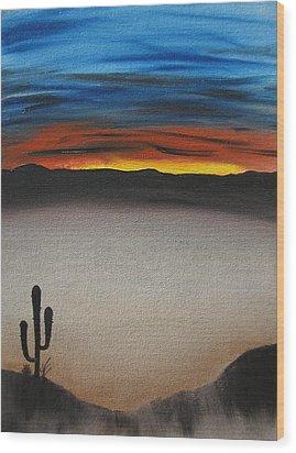Thriving In The Desert Wood Print by Sayali Mahajan