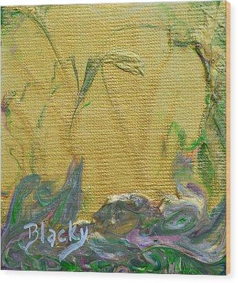 Through A Sunlit Veil Wood Print by Donna Blackhall