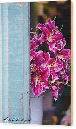 Wood Print featuring the photograph Through The Back Door by Allen Biedrzycki