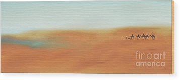 Through The Desert Wood Print by Hannes Cmarits