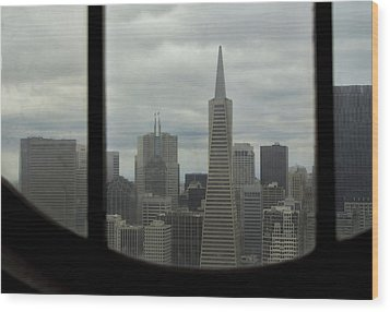 Through The Dirty Window Wood Print