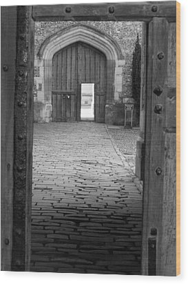 Wood Print featuring the photograph Through The Door by Meaghan Troup