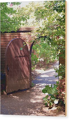 Wood Print featuring the photograph Through The Garden Gate by Tamyra Crossley