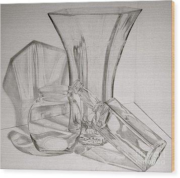 Through The Glass Wood Print by Jen Santa
