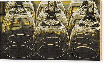 Through The Glasses Wood Print by Jean Noren