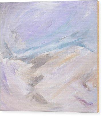 Through The Ice  Wood Print by Tanya Byrd