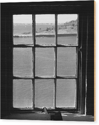 Wood Print featuring the photograph Through The Lighthouse Window by John Hoey