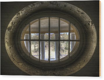 Through The Round Window Wood Print by Nathan Wright