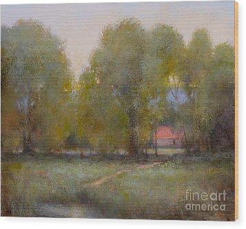 Through The Trees Wood Print by Lori  McNee