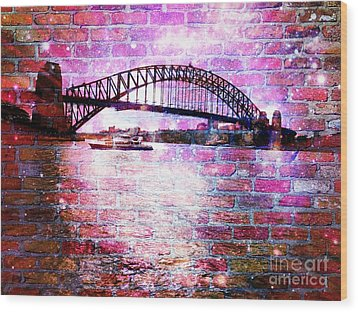 Sydney Harbour Through The Wall 1 Wood Print by Leanne Seymour