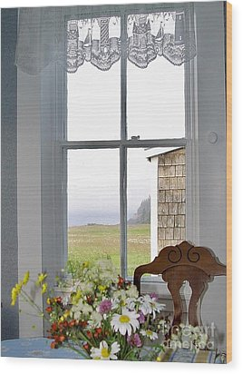 Through The Window Wood Print by Christopher Mace