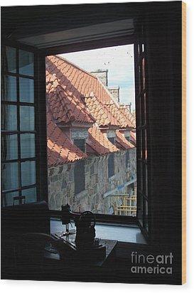 Through The Window Wood Print by Marilyn Zalatan