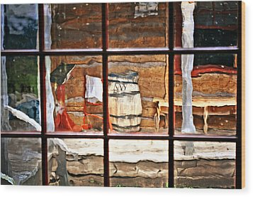 Through The Window Wood Print by Marty Koch