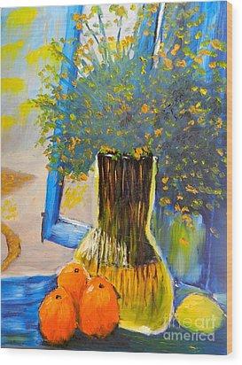 Through The Window Wood Print by Pamela  Meredith