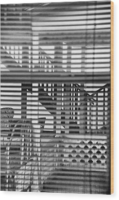 Wood Print featuring the photograph Through The Window by Susan D Moody