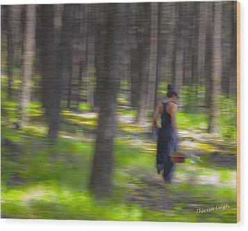 Through The Woods 2 Wood Print by Theresa Tahara