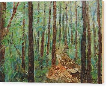 Through The Woods Wood Print by Ronex Ahimbisibwe
