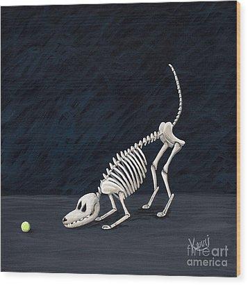 Throw The Ball Wood Print by Kerri Ertman