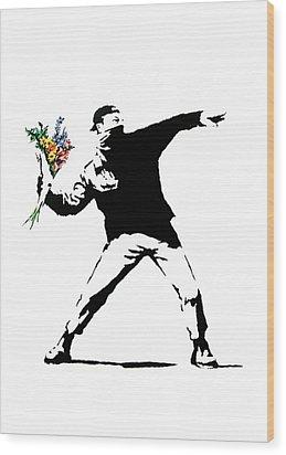 Throwing Love Wood Print