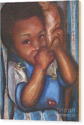 Wood Print featuring the mixed media Thumb And A Blankee by Alga Washington
