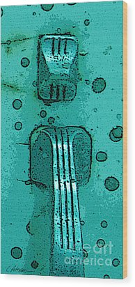 Thumb Slide For A Painter In Teal Wood Print by Cathy Peterson