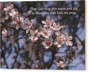 Wood Print featuring the photograph Thunder Cloud Prayer by Jean OKeeffe Macro Abundance Art