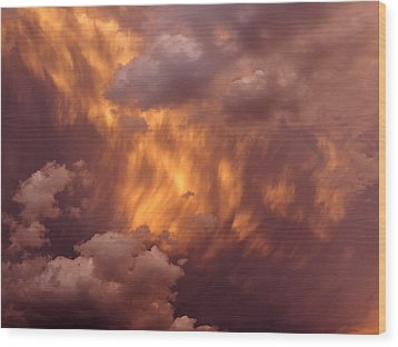 Thunder Clouds Wood Print by David Pantuso