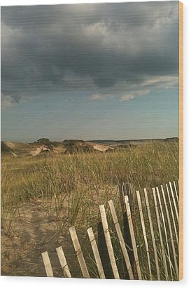 Thunder Dunes Wood Print by Tricia Nilsson