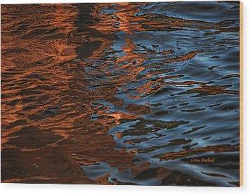 Thunder N Lightning Wood Print by Donna Blackhall