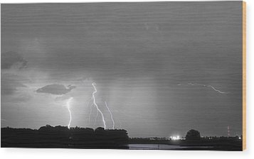 Thunder Rolls And The Lightnin Strikes Bwsc Wood Print by James BO  Insogna