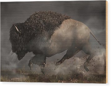 Thunderbeast Wood Print by Daniel Eskridge