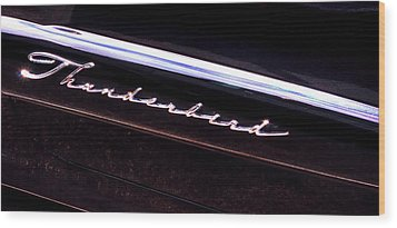 Thunderbird 14757 Wood Print by Jerry Sodorff
