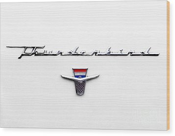 Thunderbird Tag Wood Print by Jerry Fornarotto