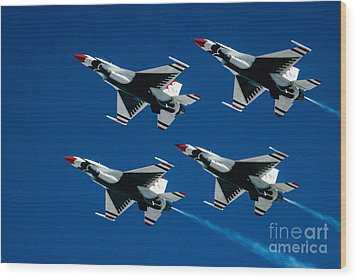 Thunderbirds Wood Print by Larry Miller