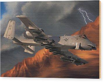 Thunderbolt II Wood Print by Dale Jackson