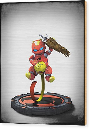 Thundercats 3000 - Snarf 2.0 Wood Print by Frederico Borges