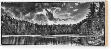 Thunderclouds Over Cary Lake Wood Print by David Patterson