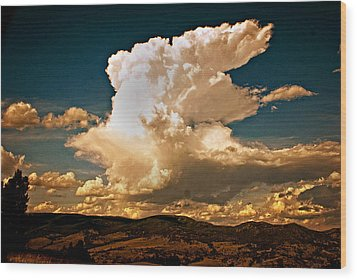 Thunderhead Over The Blacktail Plateau Wood Print by Marty Koch