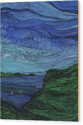 Thunderheads Wood Print by First Star Art