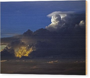 Wood Print featuring the photograph Thunderstorm II by Greg Reed