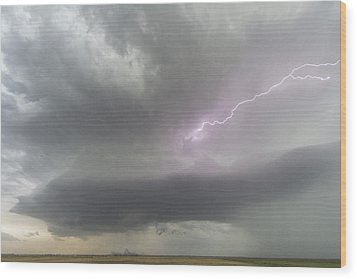 Wood Print featuring the photograph Thunderstorm by Rob Graham