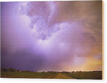Thunderstorm Tidal Wave Wood Print by James BO  Insogna